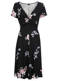 fdf8075f6b Sukienka dżersejowa • czarny w kwiaty • bonprix sklep. Ten produkt był  oglądany 1 434 razy w ciągu 24h