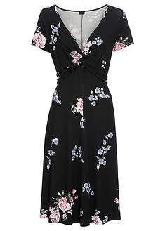 d0e1fd3f6c Sukienka dżersejowa czarny w kwiaty Z • 89.99 zł • bonprix