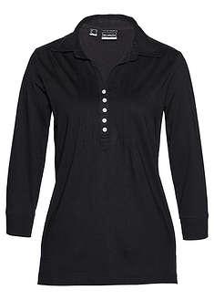 Bluzka shirtowa czarny Luźniejsza bluzka