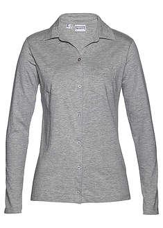 Bluzka shirtowa jasnoszary melanż Bluzka