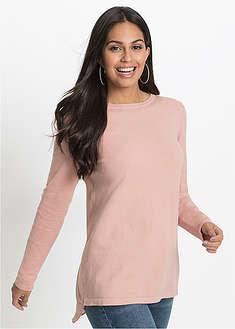 Sweter z szyfonową wstawką-BODYFLIRT