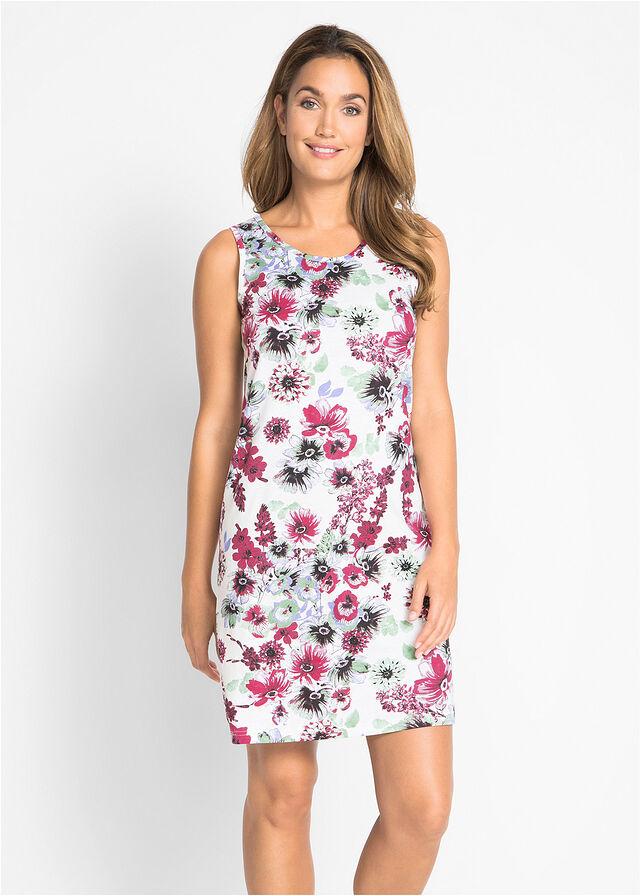 a30228fe5c9c Džersejové šaty (2 ks) • štrkovo béžová potlačená+bobuľovo červená • bonprix  obchod