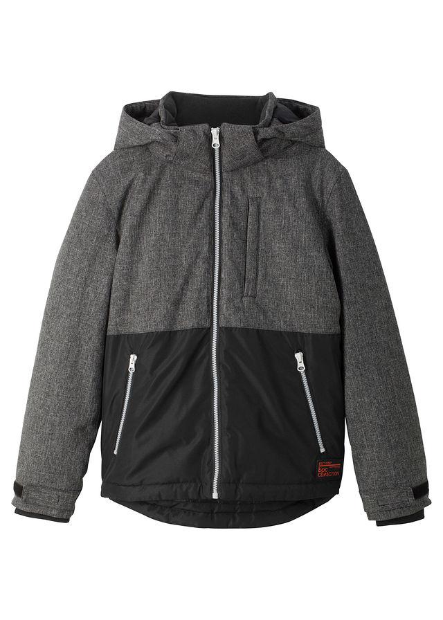 Bélelt téli kabát kapucnival szürke melírozott fekete • 12999.0 Ft • bonprix 8bd82166ae
