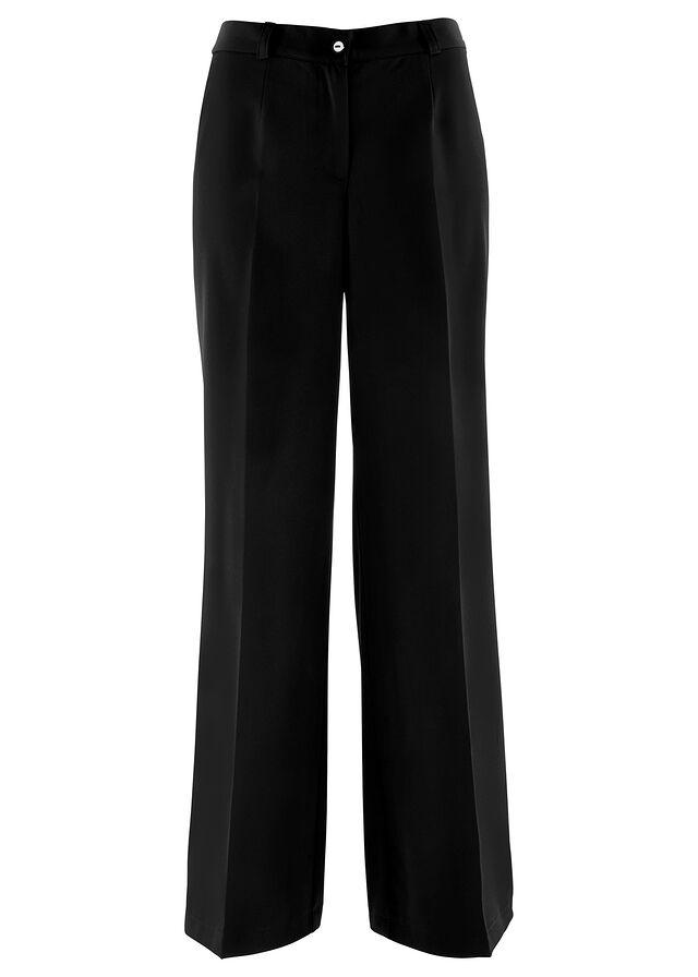 2a5dd8d87b36a3 Spodnie ze stretchem WIDE czarny Dł • 59.99 zł • bonprix