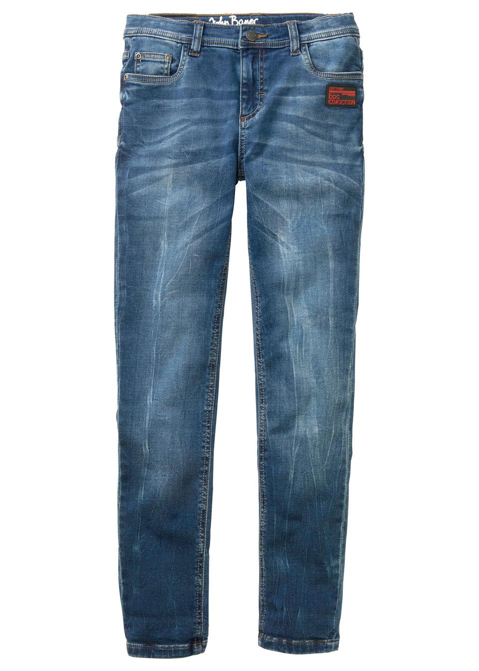 Трикотажные брюки в стиле деним Slim Fit от bonprix