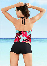Tankini (2 cz??ci) czarno-turkusowy bpc bonprix collection 2