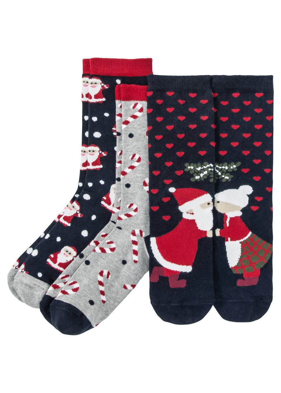 Носки в новогоднем дизайне (3 пары)