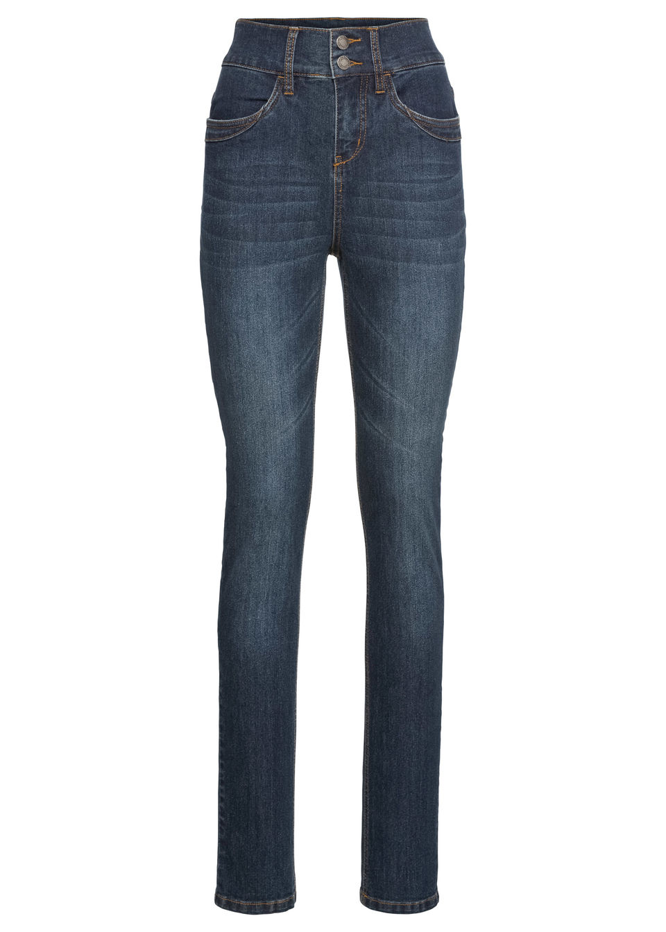 Jeans stretch, model slim talie înaltă bonprix