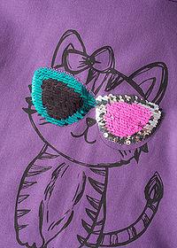 e06889fe630c WOW Mikinové šaty s otáčavými flitrami ultra fialová • 12.99 € • bonprix