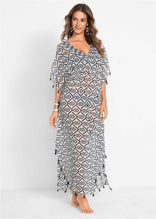 207f4c4533b7 Plážové šaty čierna biela potlačená • 29.99 € • bonprix