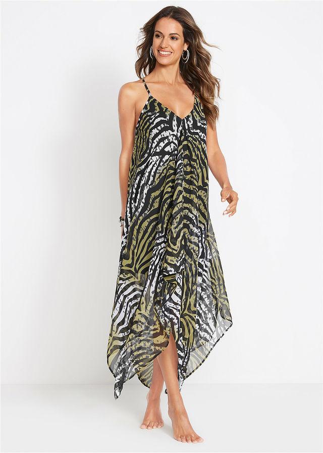 67bcd25d03 Sukienka plażowa zielono-oliwkowy zebra • 99.99 zł • bonprix