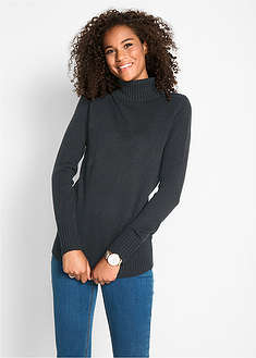 Sweter basic z golfem bpc bonprix collection 52