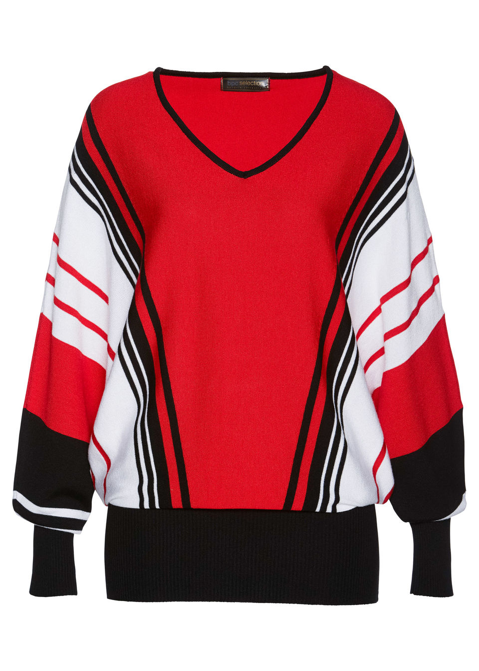 Купить Свитера, Пуловер, bonprix, клубничный + черный