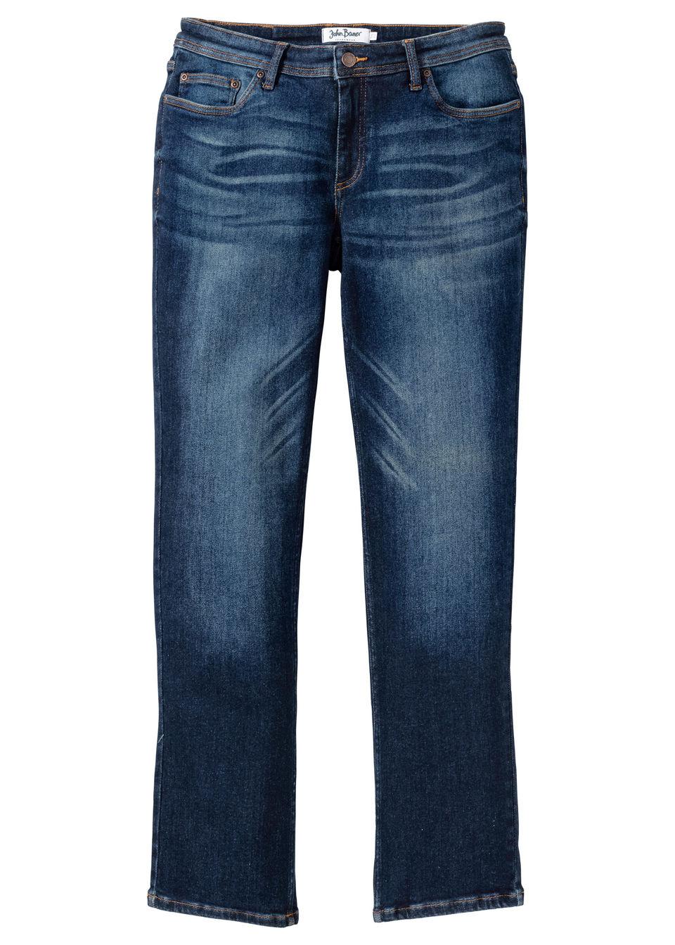 Купить Джинсы эластичные Regular Fit, bonprix, темно-синий «потертый»