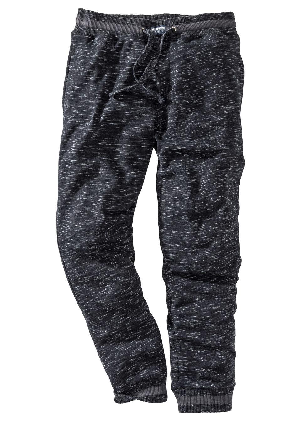 Spodnie sportowe bonprix czarny melanż
