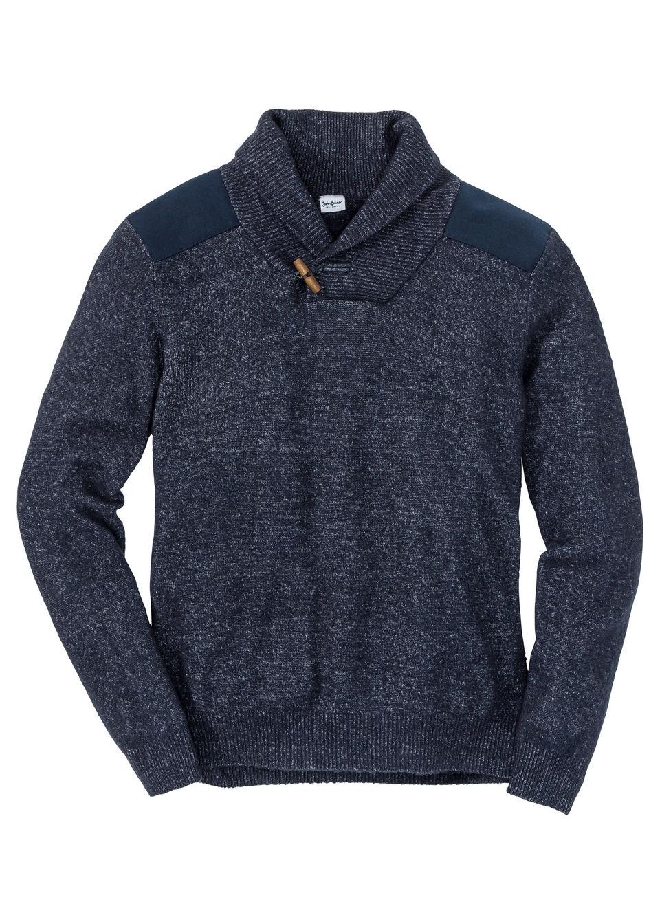 Пуловер Regular Fit с шалевым воротом от bonprix
