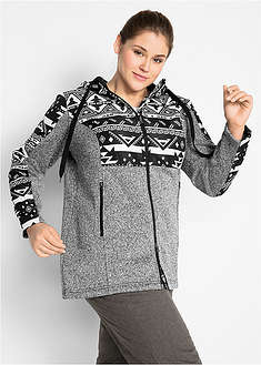 Jachetă fleece cu aspect tricotat bpc bonprix collection 8
