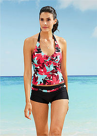 Tankini (2 cz??ci) czarno-turkusowy bpc bonprix collection 1