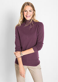 Sweter basic z golfem czarny bez bpc bonprix collection 1