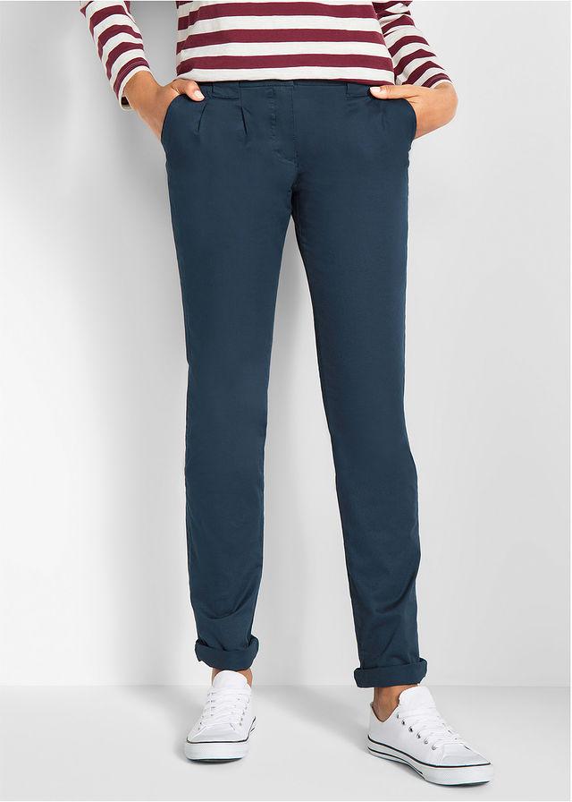2f521cc2c5251 Spodnie chino ze stretchem ciemnoniebieski • 69.99 zł • bonprix