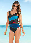 Costum de baie shape, nivel 3 negru/petrol bpc selection 7