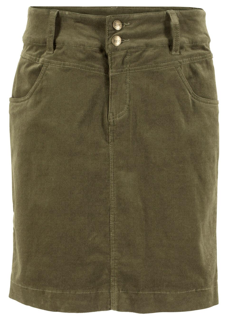 Вельветовая юбка-стретч от bonprix