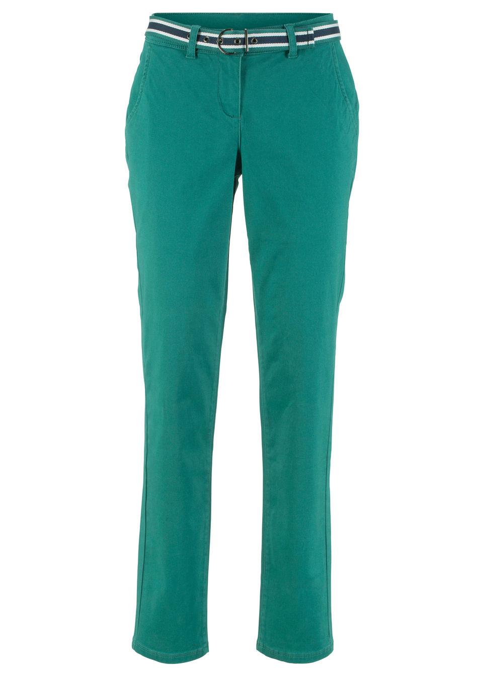 Pantaloni stretch cu curea bonprix