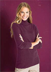 Sweter basic z golfem czarny bez bpc bonprix collection 6