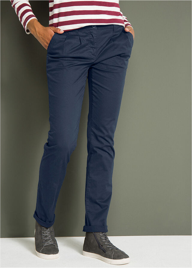 eedbbf27bd Spodnie chino ze stretchem ciemnoniebieski • 74.99 zł • bonprix