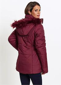 4239ac58a60c Prešívaná bunda s umelou kožušinkou javorovo červená • 29.99 € • bonprix
