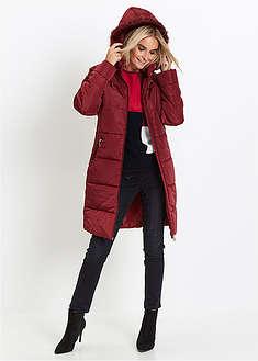 Płaszcz pikowany z kapturem ze sztucznym futerkiem-bpc selection