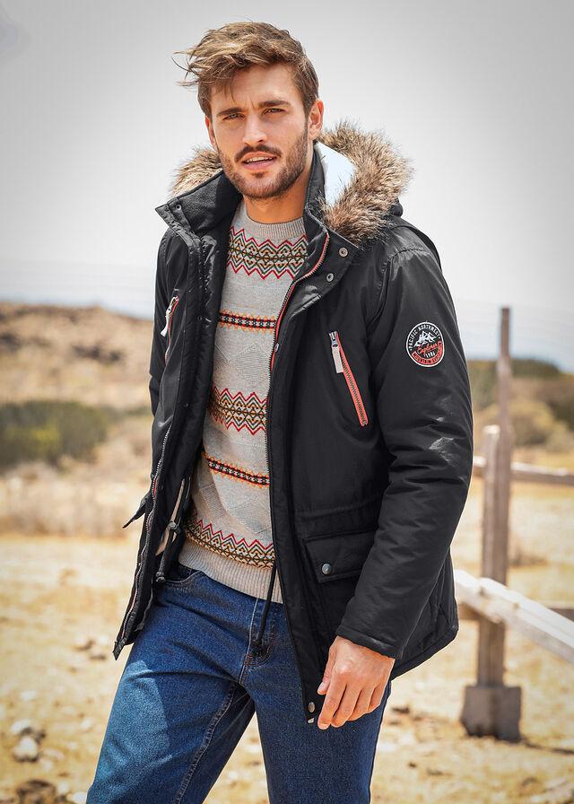 Куртка-парка Regular Fit на ватиновой подкладке • черный • bonprix магазин 84bece16f25dd