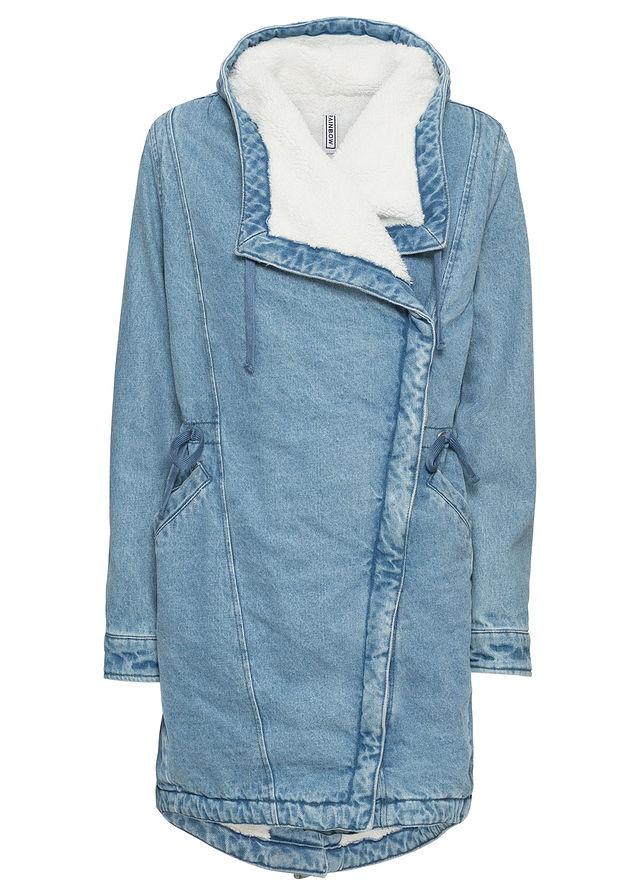 fb67cb0d991c Płaszcz dżinsowy niebieski