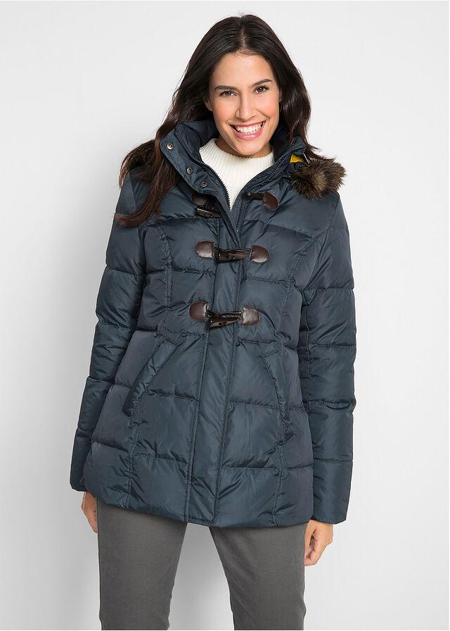 Стеганая куртка на легкой пуховой подкладке • ночная синь • bonprix магазин a2f4c1f1a85e0