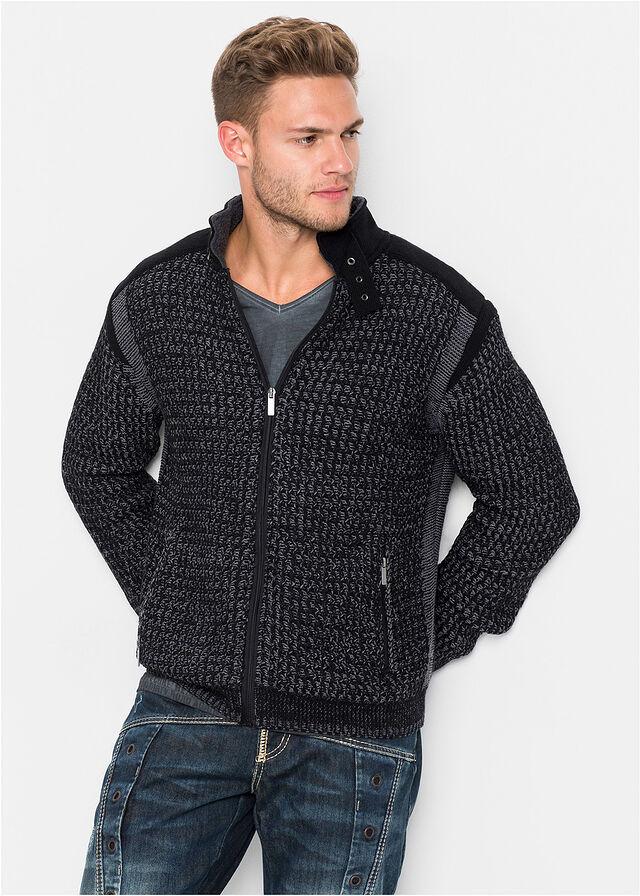 fe1ac5e880d8 Pletený sveter Regular Fit čierna dymovo sivá • 29.99 € • bonprix