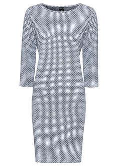 Sukienka ciemnoniebiesko-biały wzorzysty