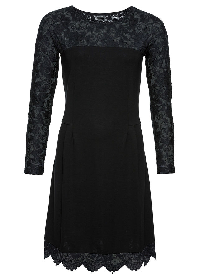 dee1ab7e7 Šaty čierna Malé čierne s čipkovaným • 24.99 € • bonprix