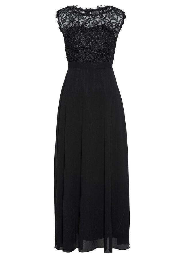 Večerné šaty s čipkou čierna Elegantné • 59.99 € • bonprix aaad77085ff