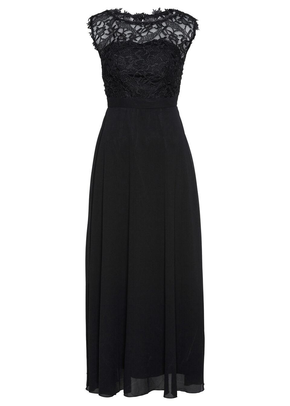 Sukienka wieczorowa Premium z koronką bonprix czarny
