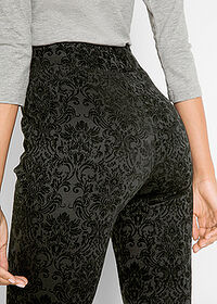 Pantaloni Punto di Roma design Maite Kelly negru imprimat bpc bonprix collection 5