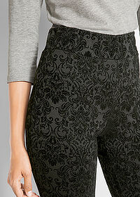 Pantaloni Punto di Roma design Maite Kelly negru imprimat bpc bonprix collection 4