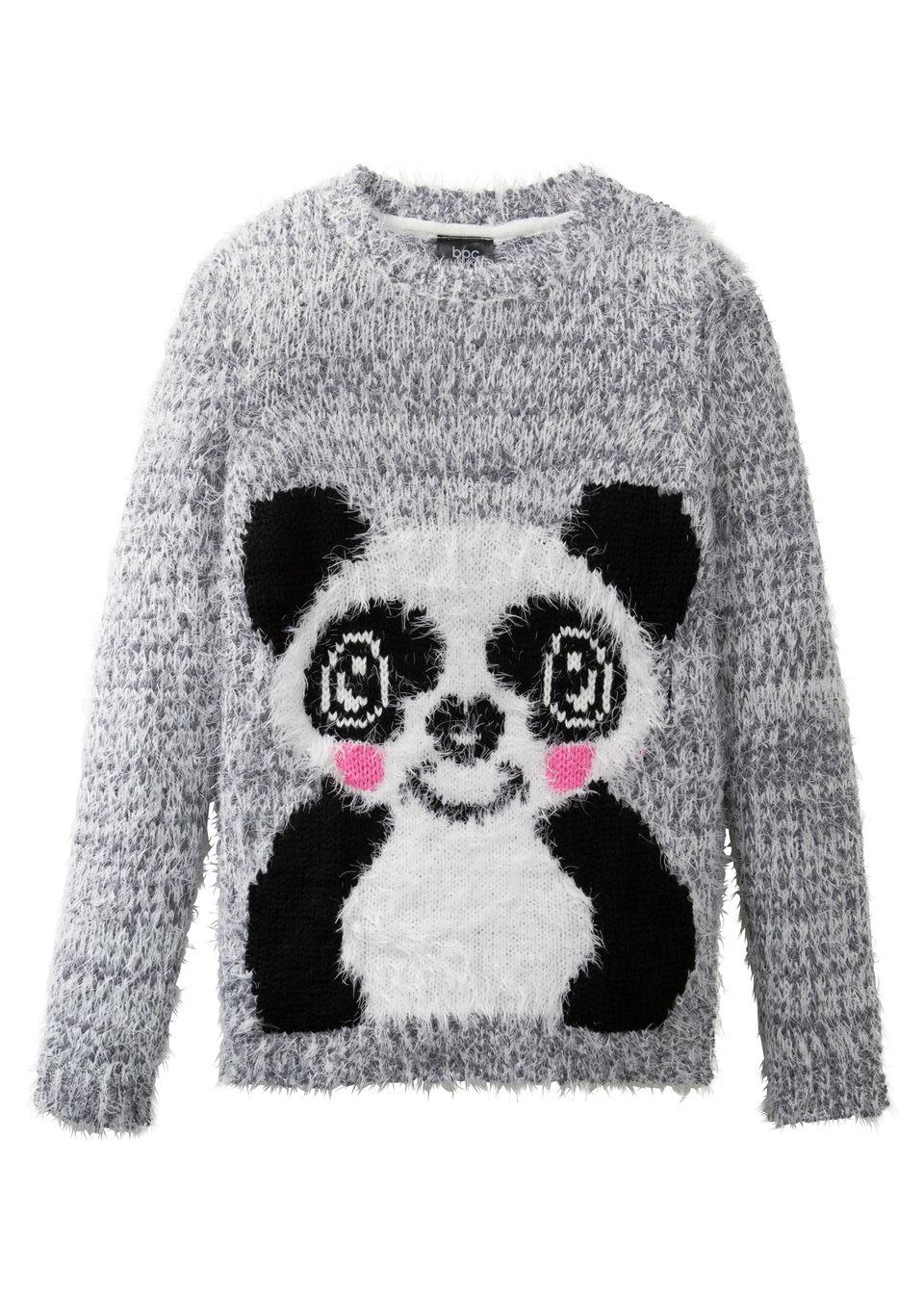 Пушистый пуловер для девочки от bonprix