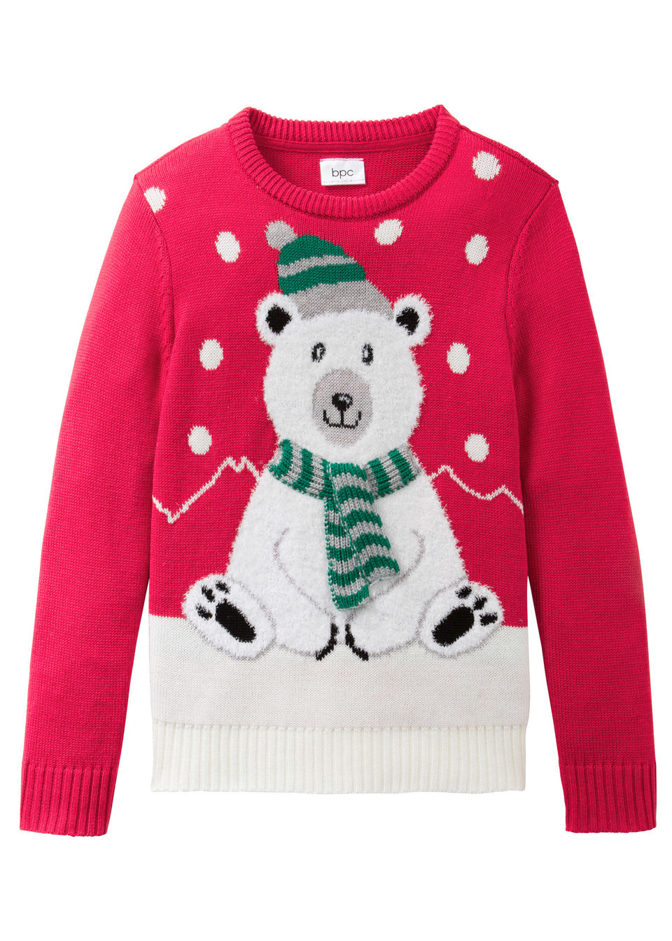 Вязаный пуловер с зимним узором от bonprix