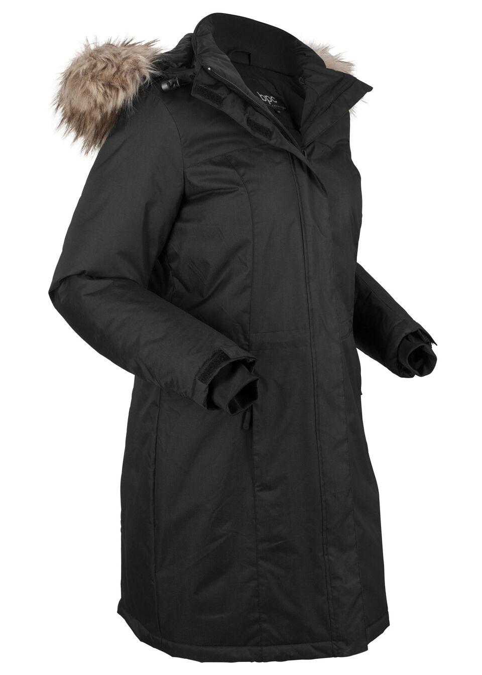 Купить Куртки и плащи, Пальто теплое с мехом, bonprix, черный