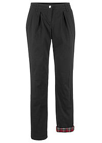 Pantaloni chino termo negru bpc bonprix collection 0