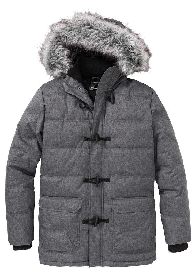Funkciós steppelt téli parka kabát Regular Fit szürke melírozott • 21999.0  Ft • bonprix cbf9a047d4