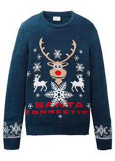 Kötött pulóver karácsonyi motívummal-bpc bonprix collection 241379389d