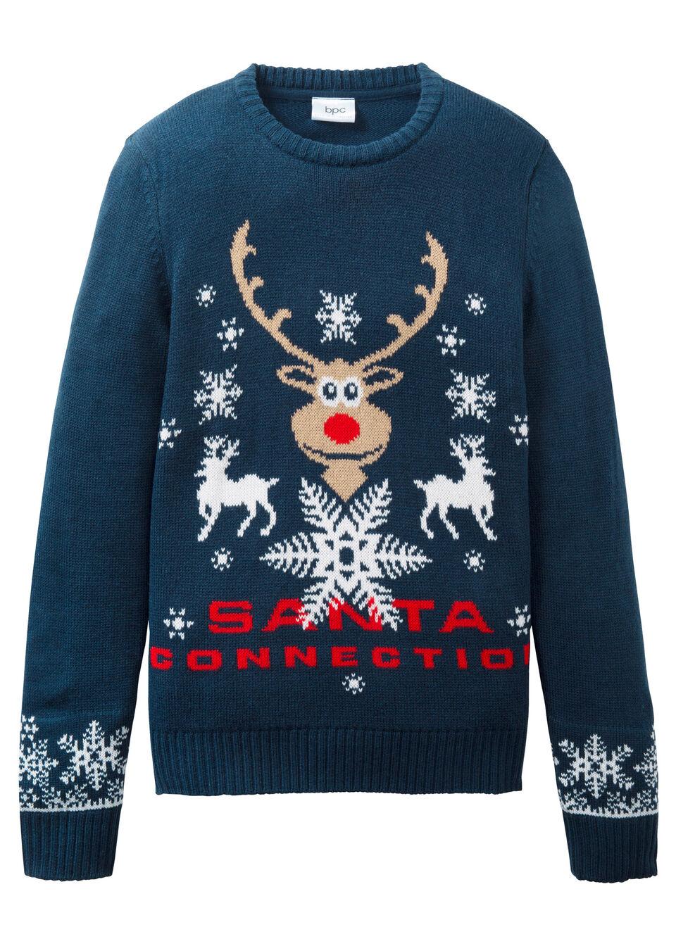 Вязаный пуловер с новогодним рисунком от bonprix