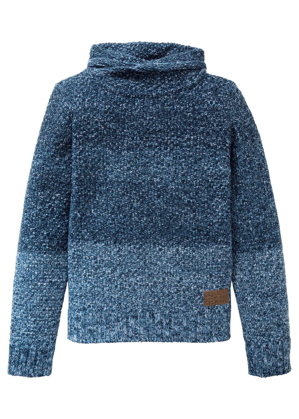 Купить Вязаный пуловер, bonprix, темно-синий/белый