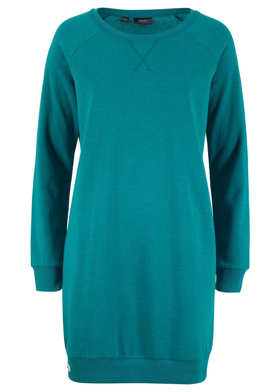 Sukienka dresowa bonprix kobaltowo-turkusowy